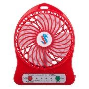 ApeCases Branded POWERFUL RECHARGEABLE USB MINI FAN - PORTABLE COMFORT- Red