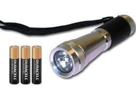 Cree Xr-E (4W) Led Aluminum Flashlight Including 3 Aaa Duracell Alkaline Batteries