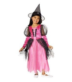 Pink Witch Child Costume Size Toddler - 1