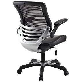edge office chair with mesh back and black leatherette seat office