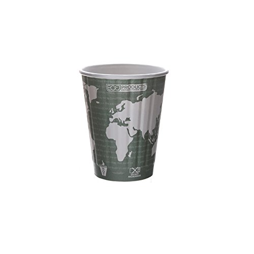 Eco-Products - Compostable, Insulated Hot Cup - 12 oz. Coffee Cup - EP-BNHC12-WD (15 Packs of 40)