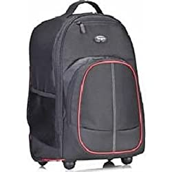 Targus TSB75001AP-70 Compact 16-inch Rolling Backpack (Black/Red)