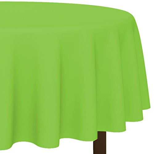 Amscan BB100183 Lime Round Plastic Tablecover, 84 in.