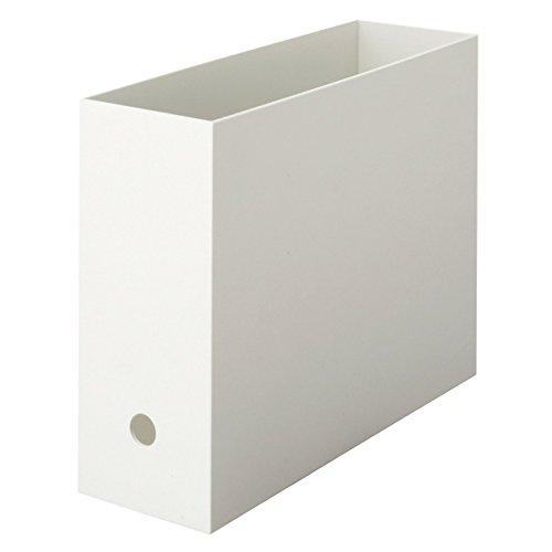 無印良品 ポリプロピレンファイルボックス・スタンダードタイプ A4・ホワイトグレー