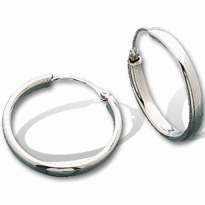 Buy Titanium/Platinum Hoop Earrings (Pair) – 19.50 mm