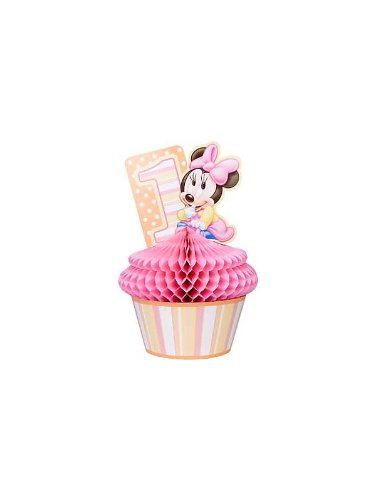 Minnie Mouse 1st Birthday Honeycomb Centerpiece (1ct)
