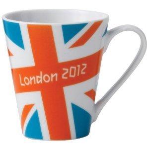 【ロンドン五輪 2012公式商品】 ロンドン オリンピック ユニオンジャック マグカップ オレンジ×ブルー 並行輸入品