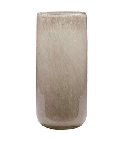 Dynasty Gallery Glass Tall Cylinder Vase, Grey