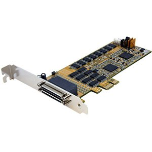 StarTech 16 Port LP RS232 PCI Express Serial Card & Cable. 16PORT PCIE SERIAL ADAPTER CARD 16950 UART SERIAL. PCI Express - 16 x DB-9 Male RS-232 Serial Via Cable - Plug-in Card - DB-9 Male Serial Cable