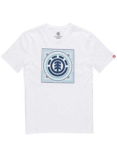 Element -  T-shirt - Basic - Collo a U  - Maniche corte  - Uomo Bianco m