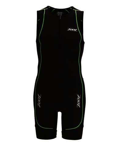 Zoot Sports Men'S Performance Tri Racesuit,Black/Green Flash,Large