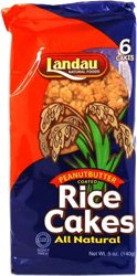Landau Kosher Natural Peanut Rice Cakes 6 Cakes