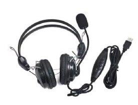 Gembird MHS-200-USB Stereo-Headset USB 2.0 schwarz