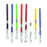 Assorted Color Pack Of 12 Lanyards with Swivel Hooks (Four Colors Per Pack)