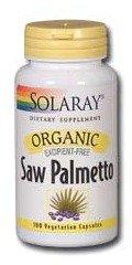 Solaray Organic Saw Palmetto Supplement, 555 mg, 100 Count