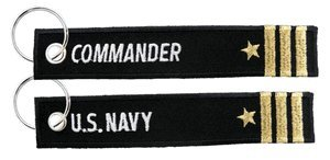 US Navy Commander Keychain