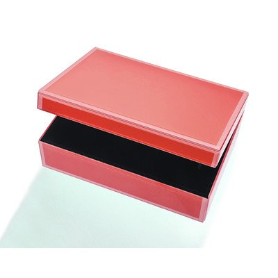 Large Glass Jewelry Box Color: Tangerine Orange