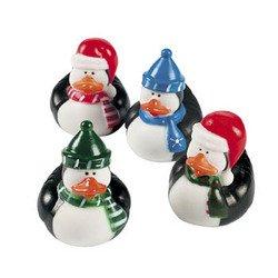Fun Express Rubber Ducky Duckie Penguin Duck Party Favors Set (12 Piece)