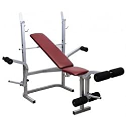 Weight Lifting Bench in 5 In 1 Home Gym Exercises (Flat + Incline + Decline + Leg curls + Leg Extentions + Butter Fly) )