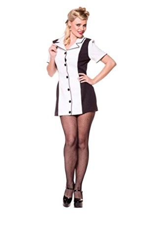 Underwraps Womens Uniforms Bowling Black And White Halloween Themed Costume