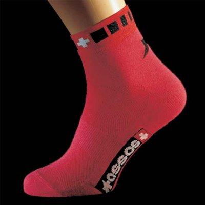 Assos Spring/Fall Coolmax Cycling Socks - Red - 2100.103.4