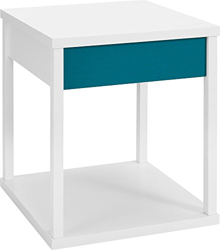 Altra Furniture Parsons Design End Table With Drawer, Teal front-1069132