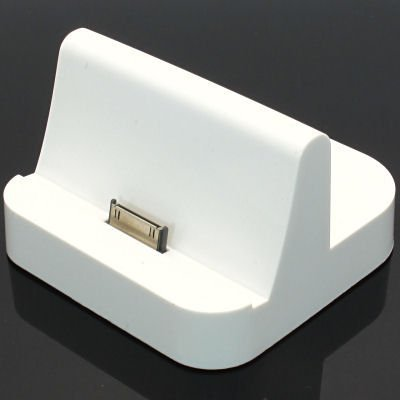 Sync Dock Station Power Charger Cradle Dock Stand Station For Apple iPad 16G 32G 64G(White)