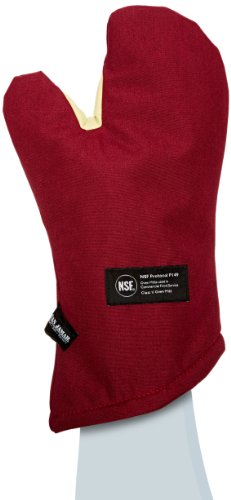 Access San Jamar Kt0215 Kool-Tek Nomex Conventional Temperature Protection Oven Mitt, 15