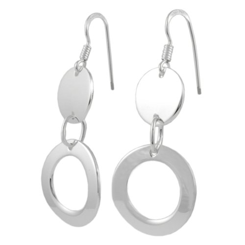 Sterling Silver Fashion Circles Earrings