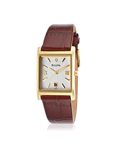 Bulova Women's 97M101 Brown Leather Watch As You See