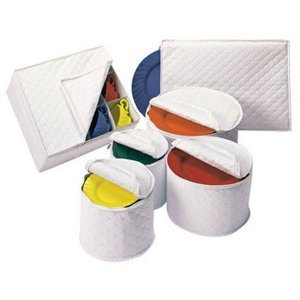 6 Piece Tabletop Quilted Vinyl Dinnerware Storage Set (Dish Storage Covers compare prices)