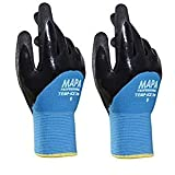 Temp-Ice 700410 700 Gloves, Double Thermal Lined 3/4 Coated Nitrile Grip and Proof Coating, Cold Protection Up to -10 Degree C, Size 10, Black/Blue (1Pair Pack) (Tw? ???k) (Color: Blue, Tamaño: Tw? ???k)