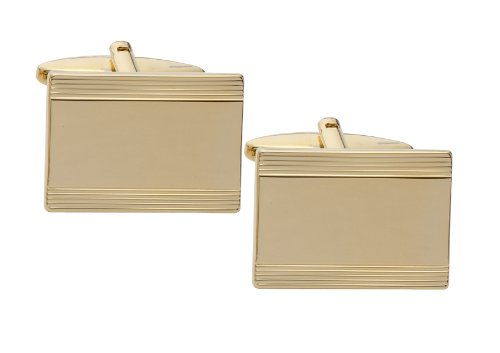 Code Red Gold Plated Cufflinks with Laser Engraved Stripes