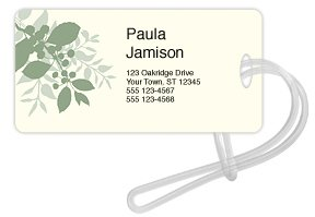 Checks In The Mail - Bali Green Luggage Tag