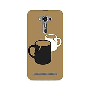 Motivatebox- Conversation Over Coffee Premium Printed Case For Asus Zenfone Selfie -Matte Polycarbonate 3D Hard case Mobile Cell Phone Protective BACK CASE COVER. Hard Shockproof Scratch-
