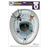 Spider Toilet Topper Peel N Place Party Accessory (1 count) (1 Sh)