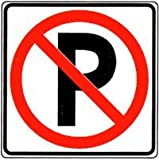 Metal traffic Sign: Square No Parking Signs (with Symbol), Size=12
