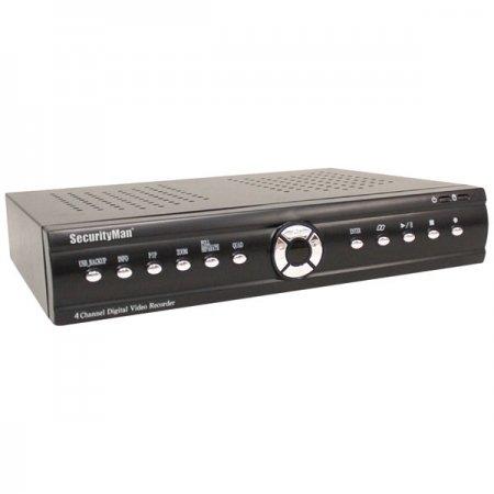 SecurityMan 4 Channel Triplex Network DVR with 250GB USB Motion Detection (NDVR0400)