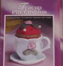 Hand Painted Porcelain Teacup Pin Cushion