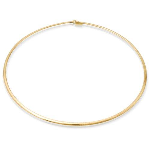 585er Goldkette: Omegakette Gold 42cm BIN-1205