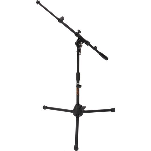 Auray Ms-5220T Short Tripod Microphone Stand With Telescoping Boom