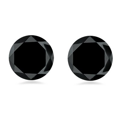 0.23-0.29 Cts of 2.86-2.95 mm AA Round Matching ( 2 pcs ) Loose Black Diamond