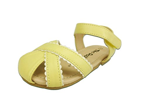 The Doll Maker Doily Closed-toe Sandal Color: Yellow Size: 6, FBA1411002A-6