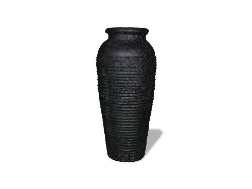 Amedeo Design Resinstone 2501-2B Olympia Urn, 22 By 22 By 48-Inch, Black