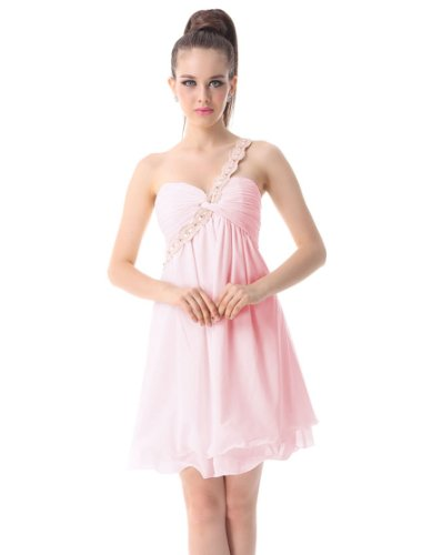 HE03321PK08, Pink, 6US, Ever Pretty Short Prom Dresses For Juniors 03321