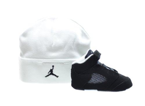 Jordan 5 Retro (GP) Infants Basketball Shoes Black/Cool Grey-White 552494-035 (3 M US)