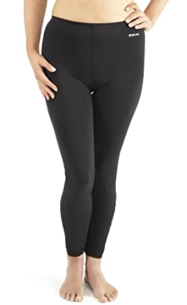Bohn Ankle Length Ladies Swim Leggings (Size 8, Black)