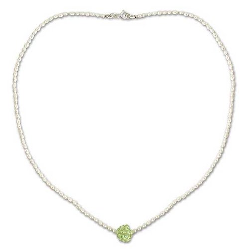 Pearl and peridot choker, 'Mystic Sea Treasure' 0.2