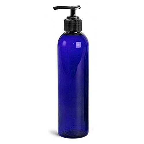 Royal Massage 8oz Empty Massage Oil Bottle with Pump (Blue) (Massage Bottle compare prices)