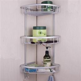 Home Hook Shower Storage 3Layers Wall Corner Bathroom Shelf